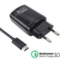 QC3.0 дорожное зарядное устройство с двумя настенное зарядное устройство USB + кабель USB