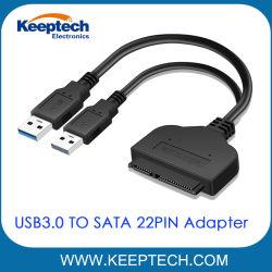 USB3.0 aan de Kabel van de Adapter van SATA 7+15pin 22pin voor 2.5 Duim HDD SSD