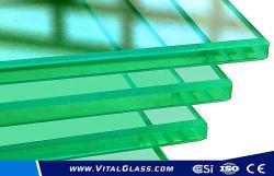 2mm-19mm doorzichtige glazen floatglazen items met gepolijste rand