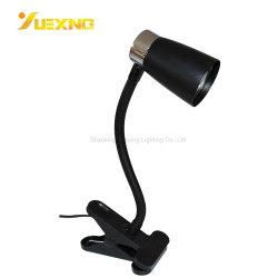 Eisen-Silber-Tisch-Studien-Licht-Leselampe des mini bunten Klipp-Schwarz-weiße LED GU10 Max50W mit justierbarem Gefäß