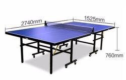 Hochwertige 25mm Dicke Blue Pingpong Tisch Set Tischtennis Tisch mit Riemenscheibe
