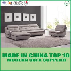 Sofá casero moderno europeo del cuero genuino de los muebles de la sala de estar