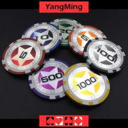 12g最終的なステッカーのポーカー用のチップのヨーロッパの粘土レーザーのカジノチップ(YM-CY02)