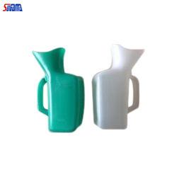 مستشفى وحيد ذكر بلاستيك أبيض زجاجة ارinal مع غطاء