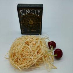 Kundenspezifisches Suncity Gruppen-Firmenzeichen, das Papier-Spielkarte-Drucken für Förderung Yh351 bekanntmacht