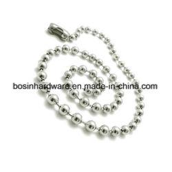 La mode de métal collier de la chaîne à billes en acier inoxydable