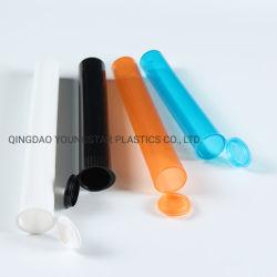 プラスチック破裂音の上の帽子の子供の抵抗力がある正方形のコネクターの煙るガラスびんとのロゴのステッカーの印刷116mm&98を用いる前に転送された共同鈍いDoobの管の接合箇所のハーブの管