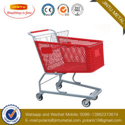 Venda por grosso de plástico do carrinho de aço empurre o mercado de géneros alimentícios Dobra Dobrável Saco de carrinho de compras