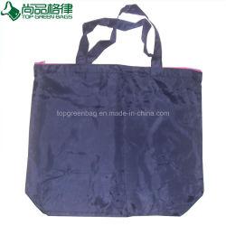 Рекламные материалы индивидуальные дешевые на молнии полиэстер нейлон женская сумка Магазинов