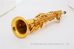 Nivel estudiante Saxophone-Made Soprano recto en China