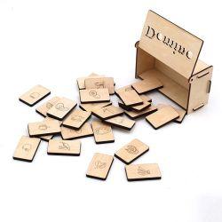 تربويّ لعب لعبة الدومينو خشبيّة لعبة محدّد لأنّ جدي مع [فكتوري بريس]