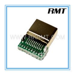 Solder용 PCB 보드를 갖춘 HDMI 19p A Type Male 커넥터(RMT-160325-003)