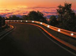 Seta LED impermeável sinais orientadores tráfego Solar Luz Corrimão de Aviso