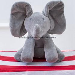 Младенец оживленный Flappy Gund игрушка плюша слона
