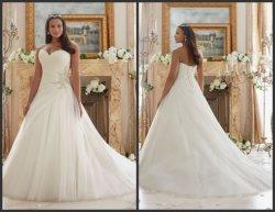 Sweetheart Vestidos de novia por encargo más vestido de boda de tamaño Mrl3203