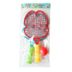 O desporto de plástico Brinquedos de praia de desenhos animados Racket com 1 Raquete de esferas (10170139)