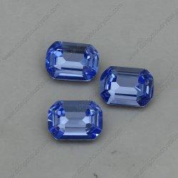 뒤 수정같은 주옥 팔각형을 Foiling 공상 파란 유리제 돌 점