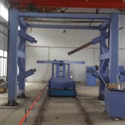 Le PRF GRP bobinage automatique du tuyau de semi-automatique machine utilisée dans le pétrole, chimique, textile, l'impression et de la Teinture