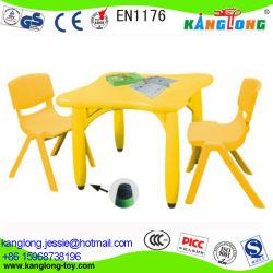 Mesa de plástico y silla/ Niños juguetes educativos/ sillas pequeñas para niños