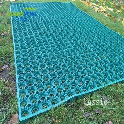 Antideslizante perforada Piscina alfombrilla de goma y caucho alfombra de césped