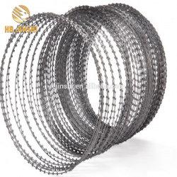 Anti-Rust pesada de acero con recubrimiento de zinc navaja cercas de malla de alambre de púas