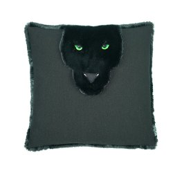 Home Produtos têxteis bordados Leopard Algodão Jean alegria jogar travesseiro capa do assento