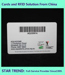 طباعة CMYK بطاقة بلاستيك للرمز الشريطي الذكية المستخدمة كبطاقة عمل، بطاقة VIP، بطاقة وصول، بطاقة ألعاب، بطاقة عضوية، بطاقة الولاء، بطاقة مدفوعة مسبقًا، بطاقة هدية