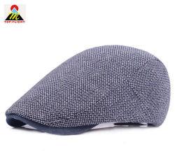 Au printemps et automne vérifié tricoté Hat occasionnel le capuchon de lierre rétro