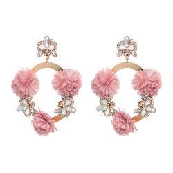Großhandel 2018 Top-Design Frauen Modeschmuck Böhmische Accessoires Bunt Quaste Legierung Kristall Blume Tropfen Ohrringe