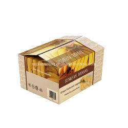 De in het groot Verpakkende Kartons van de Groente van het Fruit van de Papaja van de Banaan van de Mango van de Kers van de Citroen van de Peer van de Appel van de Verpakking van het Document van het GolfKarton van de Druk van de Douane Stijve Oranje