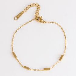 Mode bijoux double chaîne 18K or rose Jaune Bracelet pour dames de conception