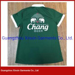 Camisas de polo da impressão da tela de seda da fábrica do OEM para a promoção (P159)