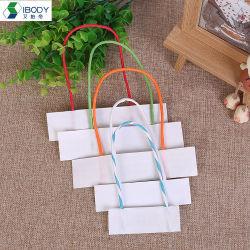 Las cuerdas de papel trenzado en color blanco apta para los fabricantes de bolsas de papel y envoltura de regalos