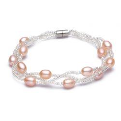 Pulsera de perlas de agua dulce natural de la moda