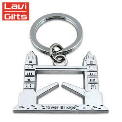 Дешевые Custom 3D-цинковых сплавов металла Лондон сувенирный цепочки ключей