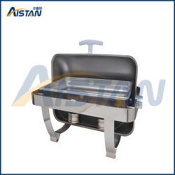 Zc301-1 Eléctrico de acero inoxidable el roce del plato con tapa superior para equipamiento de cocina
