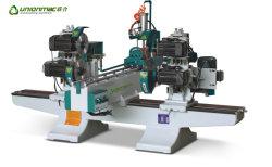 Max. Holzbearbeitung-Maschinen-Doppelt-Ende der Arbeitslänge-1700mm sah mit Former