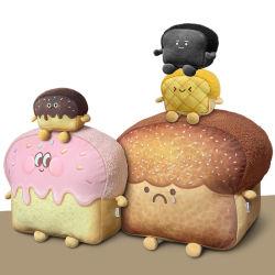 Süße Toast Brot Plüsch Kissen Plüsch Schwarzes Brot Ananas Brötchen Schokoladensauce Erdbeere Marmelade Toast Brot Weich Gefüllte Spielzeug