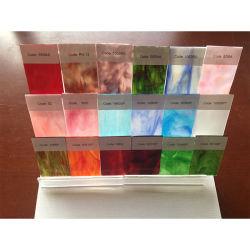 절반 투명한 색깔 스테인드 글라스 모자이크