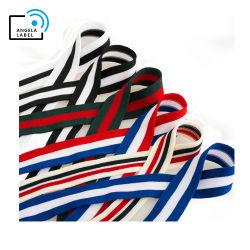 Form-Streifen-Muster-Farben-Farbband-schnürt Mehrfarbenbaumwollgewebtes material Strapfor Zutat-Farbband-Spitze Bekleidungszubehör