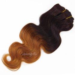 Indian Ombre cuerpo ola T1b/30 Clip-in 100% cabello humano.
