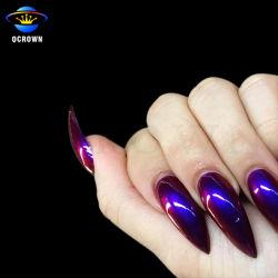 Цвет хамелеон переключение пигмента Chrome порошок для лак для ногтей краски