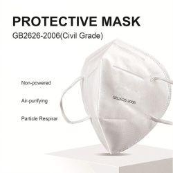 4 couches de protection jetables Contour Masque facial respirant KN95