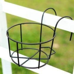 Soporte de la planta de hierro valla metálica para rack de sembradoras balcón Maceta a través de la titular de la rampa