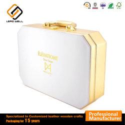 Косметической упаковки коробки индивидуальные комплект для макияжа роскошь под торговой маркой подарок из натуральной кожи