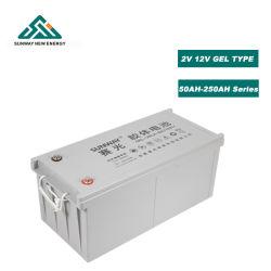 Batterie gel de stockage d'énergie à usage solaire 12 V 200 a/150 ah--batterie acide GFM batterie gel de plomb