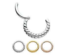 316L'usine de gros de bijoux en acier inoxydable chirurgical piercings nez de segment de l'anneau articulé Clicker