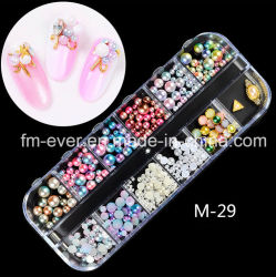 Commerce de gros de beaux bijoux d'ongles, clou de fournitures, Nail Art Decoration