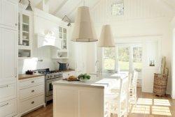 Mobilier classique des armoires de cuisine en bois massif pour les projets américains et le commerce de gros