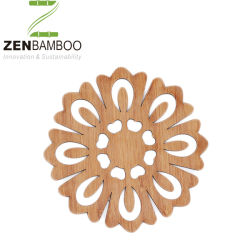 Laser di bambù del sottobicchiere per il regalo